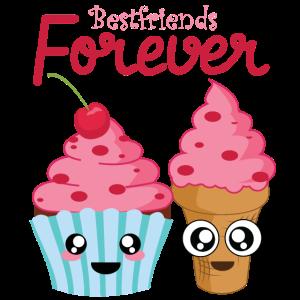 Bestfriends Forever Eisbecher Freundschaft Kuchen