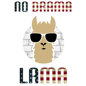 No Drama Lama America USA Flagge