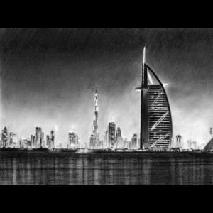 Dubai Zeichnung