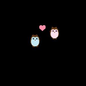 """Süße Eule """"Owl always love you"""" - Geschenk Partner"""