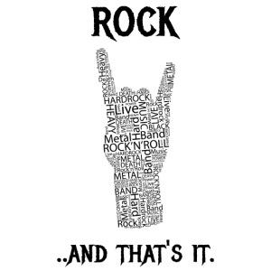 Rock e basta.