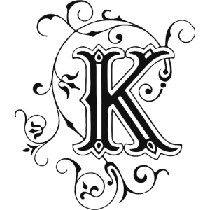 Buchstabe-K-Verzierung