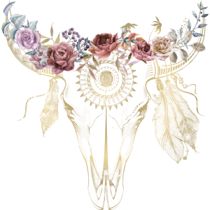 Boho Style / Blumen / Skull / Design