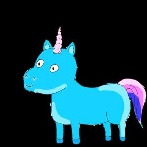 Einhorn Unicorn Himmelblau Geschenk Idee Schweif