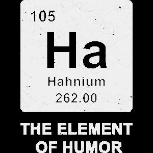 Ha Humor chemische Elemente Chemie Shirt Geschenk