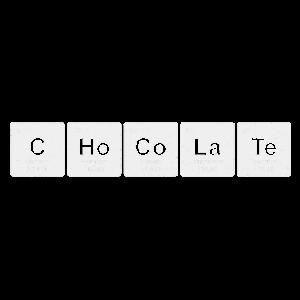 Chocolate chemische Elemente Chemie Shirt Geschenk