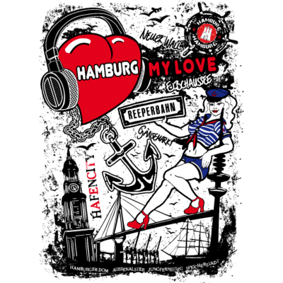 I Love Hamburg T-Shirt - I Love Hamburg, das ist das Motto dieses Hamburg Motivs! Einzigartiges und aufwendiges Motiv mit zahlreichen Wahrzeichen und Sehenswürdigkeiten Hamburgs.  Wenn du Hamburg liebst, ist dieses Hamburg Motiv ein Must-Have für dich! - shirts hamburg,shirt hamburg,reeperbahn t-shirt,michel hamburg,love hamburg,kiez t-shirt,i love hamburg t-shirt,i am love hamburg,hamburg t-shirt,hamburg t,hamburg shirts,hamburg motiv,hamburg herren t-shirt,hamburg damen t-shirt,hafen t-shirt,Städte T-shirt,St Pauli,I love shirts,I love,Hansestadt Hamburg,Hamburger Wappen,Hamburg Wappen,Hamburg,CITY SHIRTS
