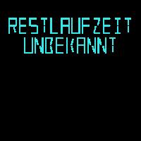 """Restlaufzeit unbekannt"" Digital LED Mint"