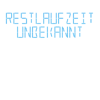 """Restlaufzeit unbekannt"" Digital LED Blau"