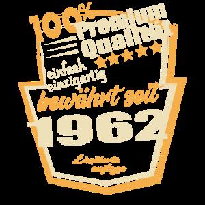 Geboren 1962 Premium Qualität Geburtstags Shirt