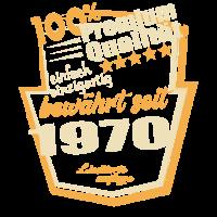 Geboren 1970 Premium Qualität Geburtstags Shirt