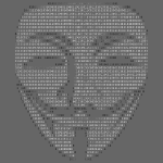 Guy Fawkes Mask Binary