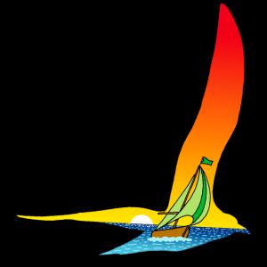 Der Vogel und das Segelboot