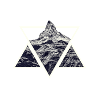Stylized Geometric Mountain