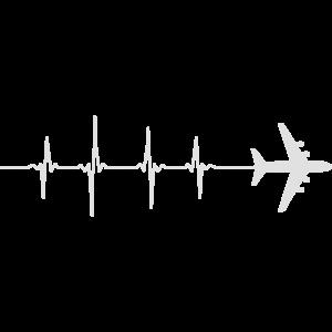 Herzschlag Heartbeat Flugzeug Reise Reisen Love 1c