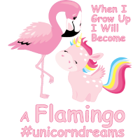 Flamingo mit Einhorn #unicorndreams - Pink Unicorn