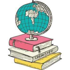 Globus und Bücher