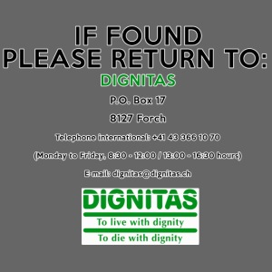 Dignitas - If found please return joke design