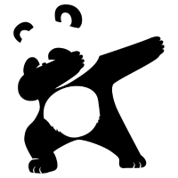 Dabbing Panda Lustiges Tier Shirt