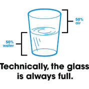 Strictly speaking, the glass is always full.