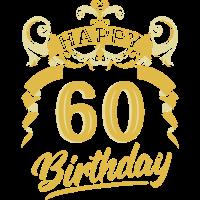 60 Jahre Geburtstag Happy Bday Birthday Geschenk
