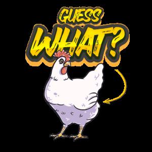 Guess what Huhn lustig Geschenk kreativ lustig süß