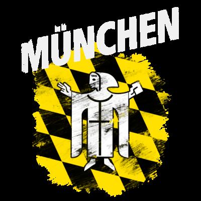 München - Wappen der Stadt München mit weißem Titel - Wappen,München,Bayern