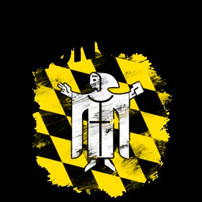 München - Wappen der Stadt München mit schwarzem Titel - Wappen,München,Bayern