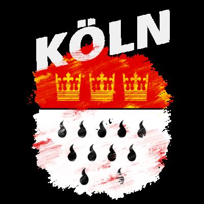 Köln - Wappen der Stadt Köln mit weißem Titel - Wappen,Nordrhein-Westfalen,NRW,Köln