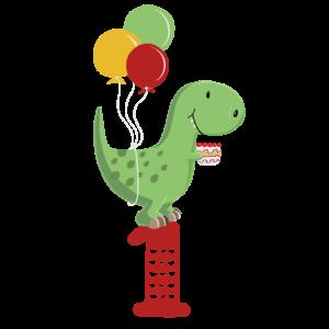 Erster Geburtstag Junge T Rex Dinosaurier