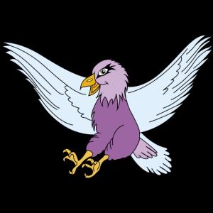 himmlischer und lila Adler