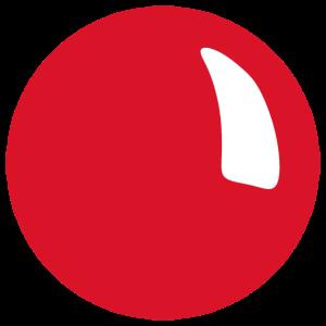 Rote Nase Kaugummi Rudolf roter Punkt Clown