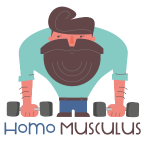 Homo Musculus Hipster Fitness Muskel Mann Training