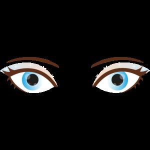 Augen-Make-up Blau