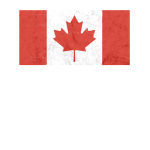 Kanadische Flagge im verwaschenen Look