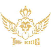 The King - Lion with Crown and angel wing