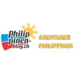 Philippinen-Blog Logo deutsch schwarz/orange