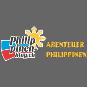 Philippinen-Blog Logo deutsch schwarz/orange