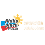 Philippinen-Blog Logo english orange/weiss