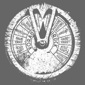 Maschinentelegraph (biały oldstyle)