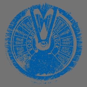 Maschinentelegraph (blå oldstyle)