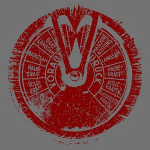 Maschinentelegraph (rød oldstyle)