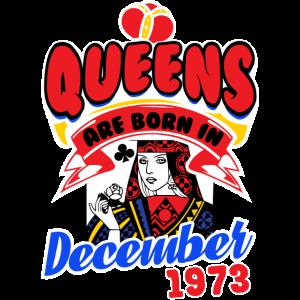 Queens geboren Dezember 1973 Karten Karo Geschenk