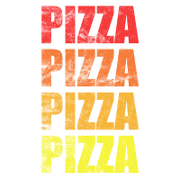 Fastfood Pizza Design - in coolem Used Look