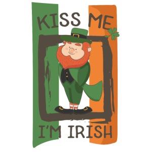 St. Patrick's Day Leprechaun - I'm Irish - Kiss Me