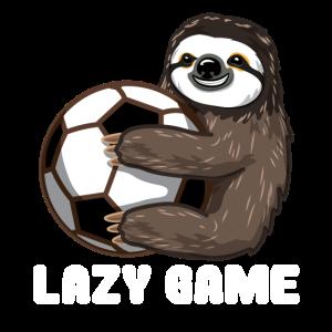 Faultier Sloth Faul Ball Spiel Fußball Geschenk