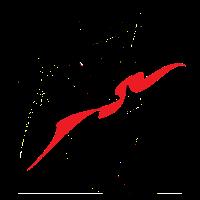 Frau in schwarz und rot