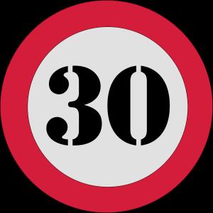 Verkehrsschild 30 geburtstag