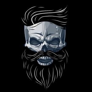 Beardy Beard Bart Man Skull Geschenkidee