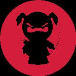 Ninjamädel mit Bogen